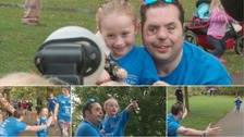 War hero Simon and five-year-old Tempy team up for charity