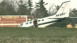 Her husband died from the medical condition which caused him to lose consciousness in the plane