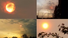 Red sun in the sky leaves Midlanders perplexed