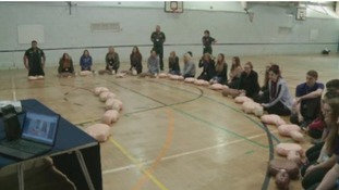 Thousands of pupils take part in Restart a Heart Day