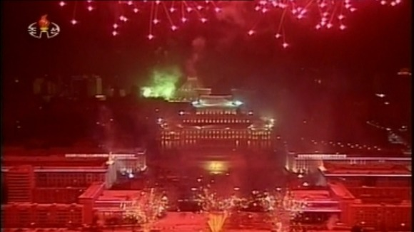North Korea has celebrated the New Year with a huge fireworks display