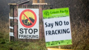 The anti-fracking protest site.