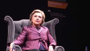 Thousands hear from Hillary Clinton at Cheltenham Literature Festival