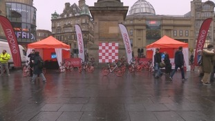 Mobike launch in the centre of Newcastle.
