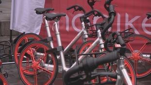 The bikes are very hi tech.