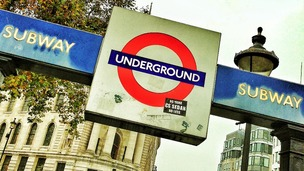 Tube sign.