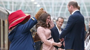 Duchess of Cambridge enjoys dance with Paddington Bear at charity event