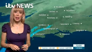 Tuesday's weather in the west of the region