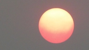 This image of the sun was taken in Ipswich, Suffolk.