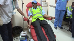 Somalia's president donated blood to help the medical effort.