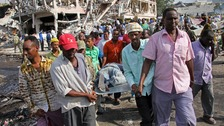 Funerals after Somalia blast which killed more than 300