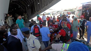 A number of the injured have been airlifted to Turkey.