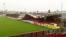 Damage at the Turners Cross stadium in Cork.