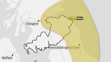 Yellow weather warning issued for Southern Scotland
