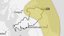 Yellow wind warning