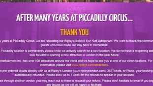 Ripley's Believe It Or Not! closes suddenly in Piccadilly Circus