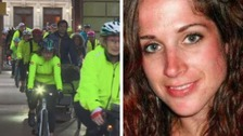 Hundreds cycle in memory of collision victim