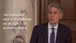 Chancellor Philip Hammond welcomed the 'independent' think tank's view on the UK economy.