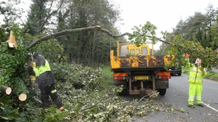Clean-up underway after Storm Ophelia settles