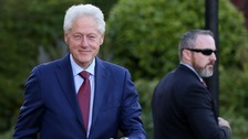 Former US president Bill Clinton in Belfast