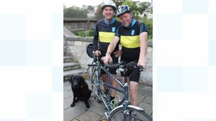 Wiltshire Police call handler who is registered blind completing 250-mile charity cycle