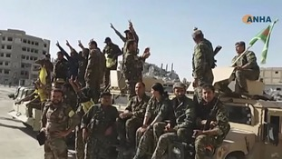 US-backed forces say Raqqa 'liberated' from Islamic State militants
