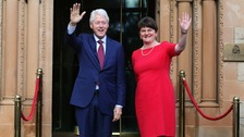 Former US president Bill Clinton in Belfast