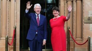 Bill Clinton meets Arlene Foster in Belfast