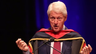Bill Clinton warned many people were retreating to 'tribal' identities.