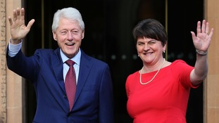The former US President met DUP leader Arlene Foster while in Ireland.