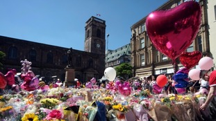 Tributes for the 22 people killed in the Manchester Arena bombing.