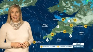 Rainy spells in the South West