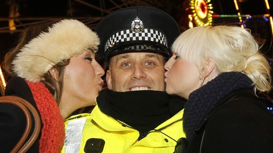 Kat Parker, Sergeant Stevenson and Georgia Rochester enjoy Hogmanay in Edinburgh