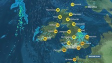 A cloudy day for many with outbreaks of rain and drizzle
