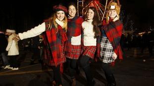 Nadine Pober, Flora Baker, Kirsten Alana and Amanda Williams enjoy Hogmanay in Edinburgh