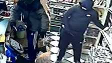 Police release CCTV pictures after armed robbery in Dunstable
