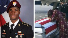 Trump denies claims over comments to soldier's widow
