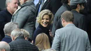 Businesswoman Amanda Staveley at St James' Park earlier this month.