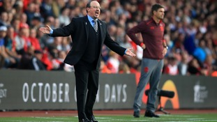 Rafa Benitez during the Premier League match at Southampton on Sunday.