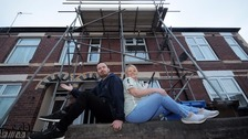Chris Evans and Liggy Webb were stunned to find scaffolding put up outside their home without their knowledge