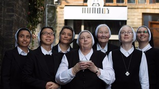 The nuns hope to engage diners in conversation.