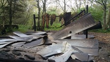 Vandals burn down log cabin in Galashiels woodland