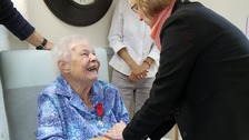A hundred AND a heroine! Centenarian gets medal