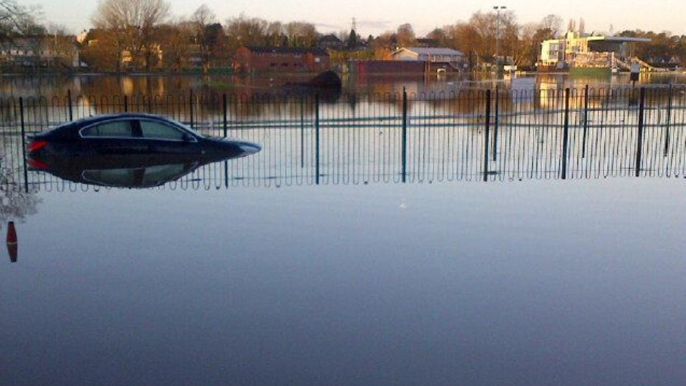 Water Levels Rise As River Severn Peaks At Shropshire