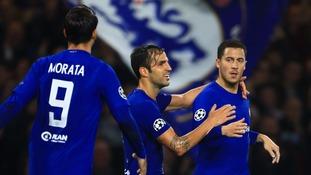 Former Manchester City striker Edin Dzeko scores twice as Roma draw with Chelsea at Stamford Bridge