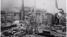 B&W photo of ironworks