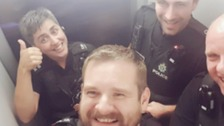 Police in Brighton rescued from lift by firefighters!