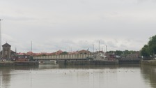 The Cumberland Basin is the main entrance to the docks of the city of Bristol.