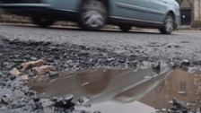 Motorists are being urged to report potholes as soon as they see them