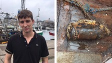Plymouth fisherman nets a suspected World War II bomb